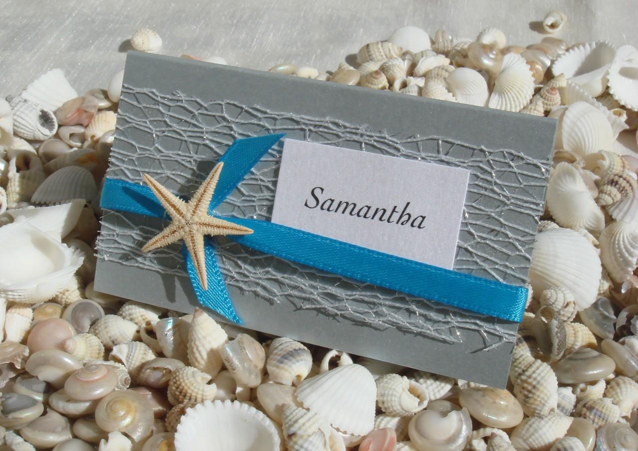 Starfish Wedding Invitation Kit: Beach Wedding Place Card DIY Kit