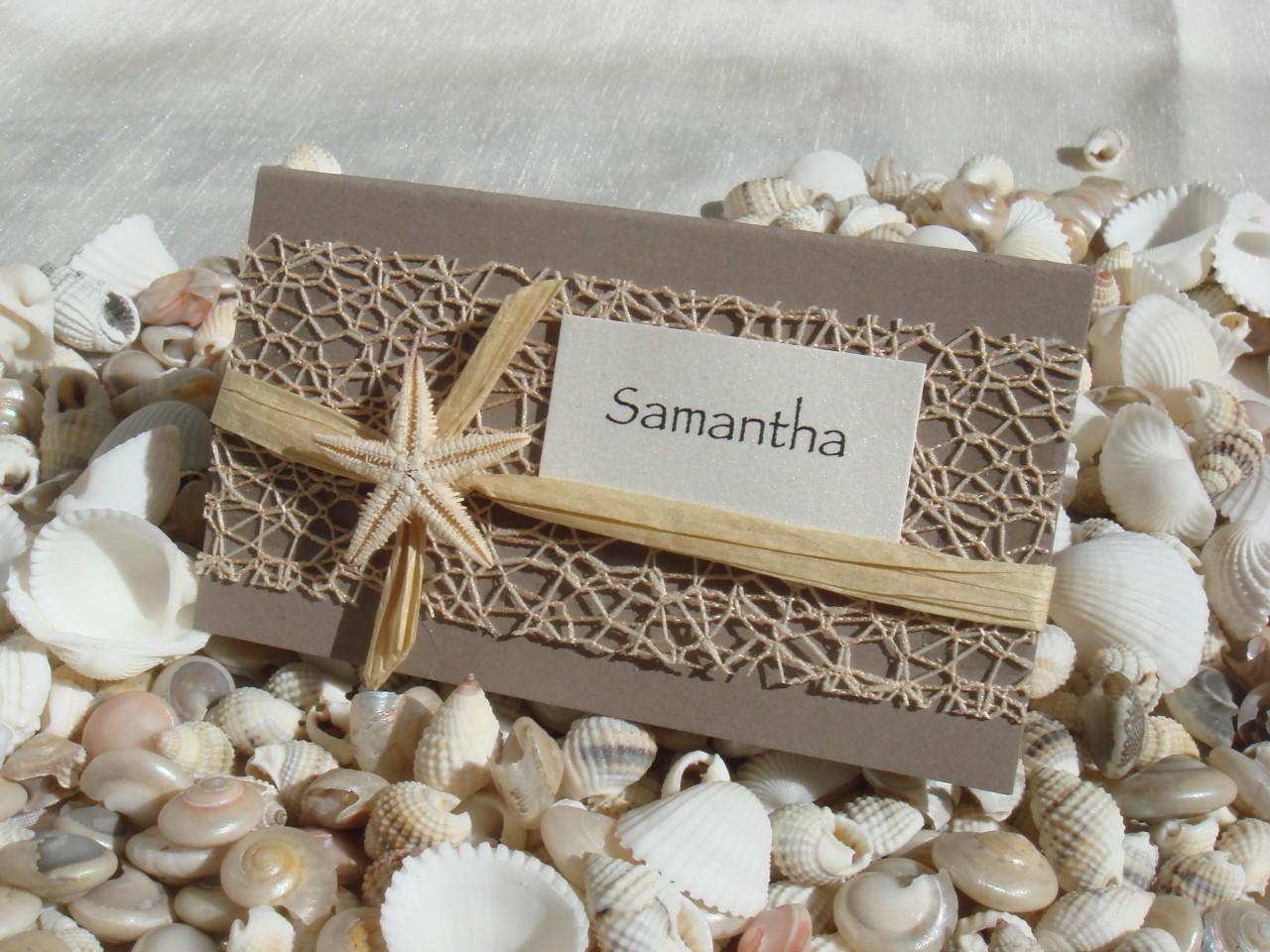 Starfish Wedding Invitation Kit: Beach Wedding DIY Place Card Kit