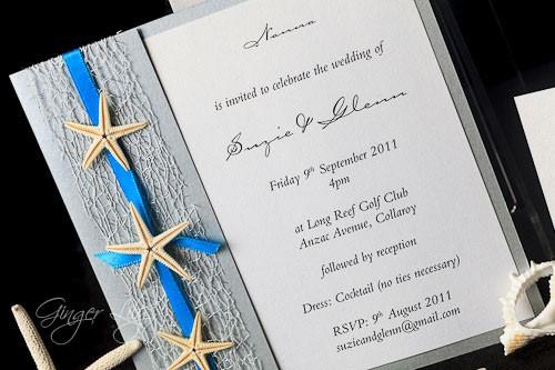 Starfish Wedding Invitation Kit