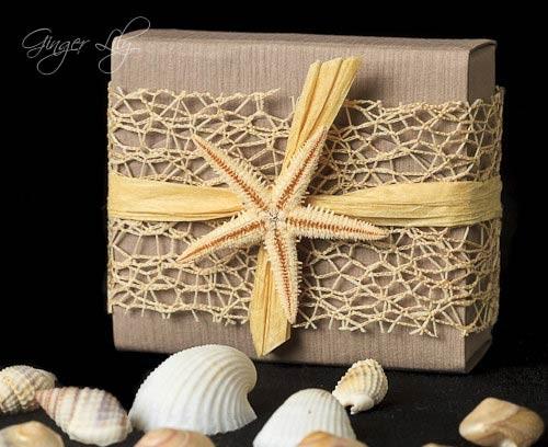 Starfish Wedding Invitation Kit: Beach Wedding Favor Box DIY Kit