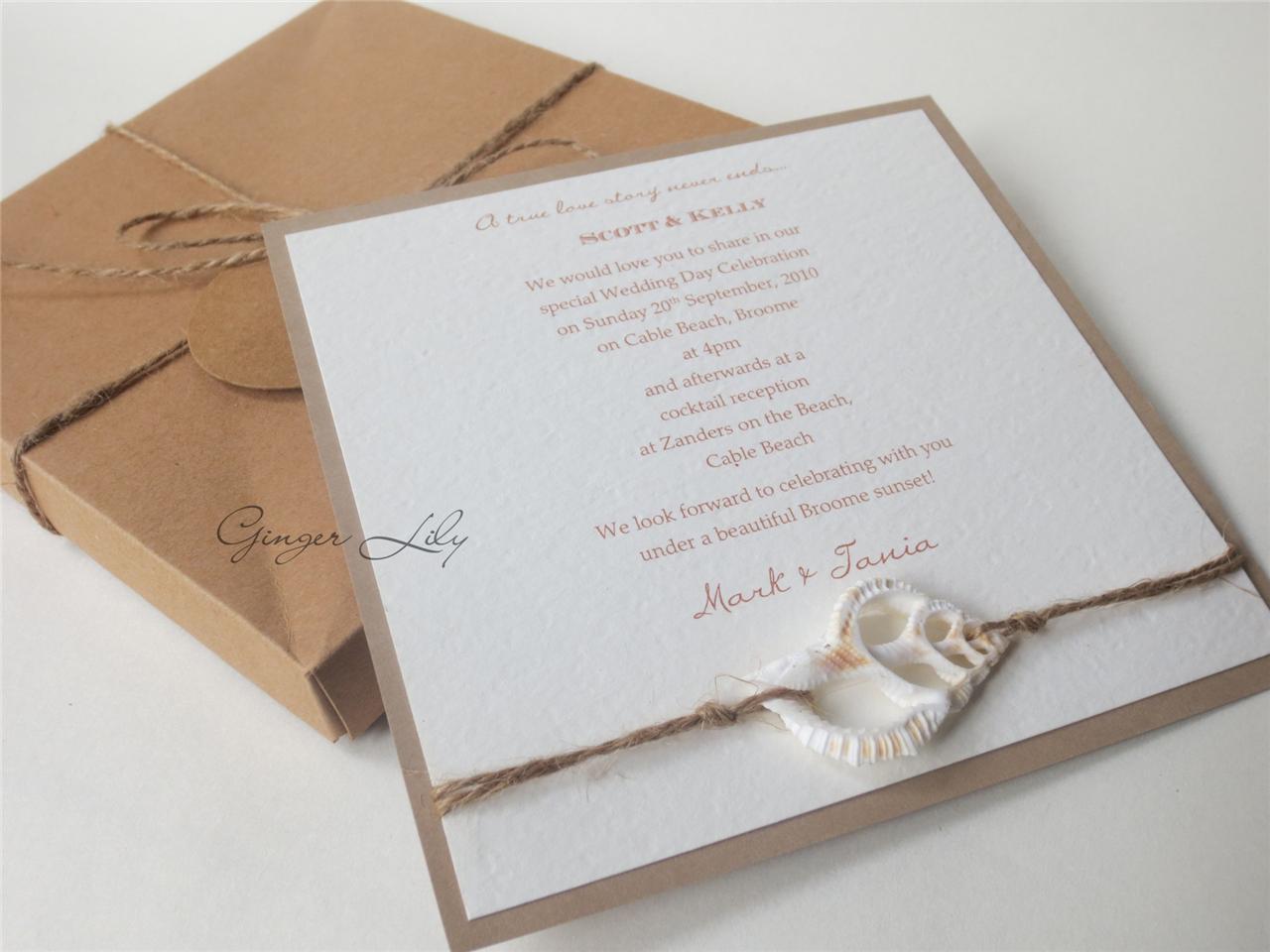 Beach Themed Wedding Invitations Uk: Wedding Invitation DIY Kit
