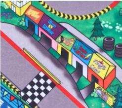 Race Track Floor Play Mat Felt Game Childrens Toy