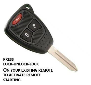 plug&play remote start chrysler dodge jeep 3x lock