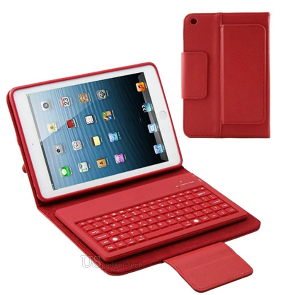 Stand PU Leather Case Cover with Bluetooth Keyboard Stylus ...  Stand PU Leathe...