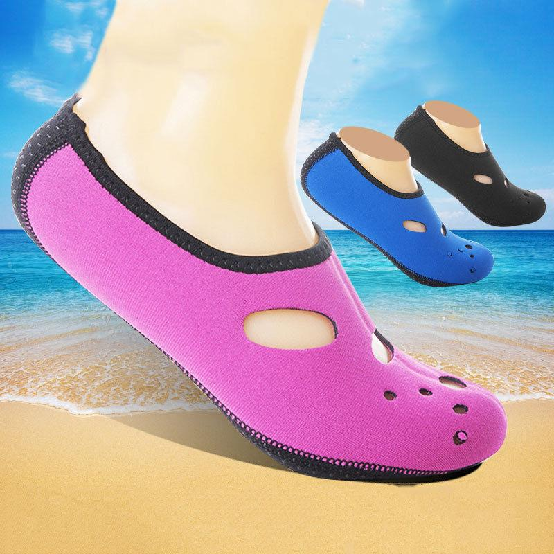 Men Women Skin Water Shoes Aqua Beach Socks Yoga Pool Swim ...