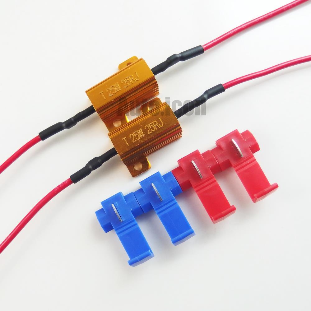 2pcs 25w 25 Ohm Load Resistors For Led Bulbs Turn Signal