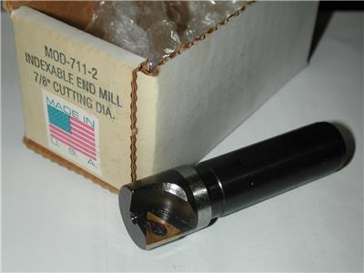 """NOS USA AMERICAN SUN 1-3//4/"""" 45 Deg Chamfer Face Mill 3//4 Shk  750-1A M7D"""