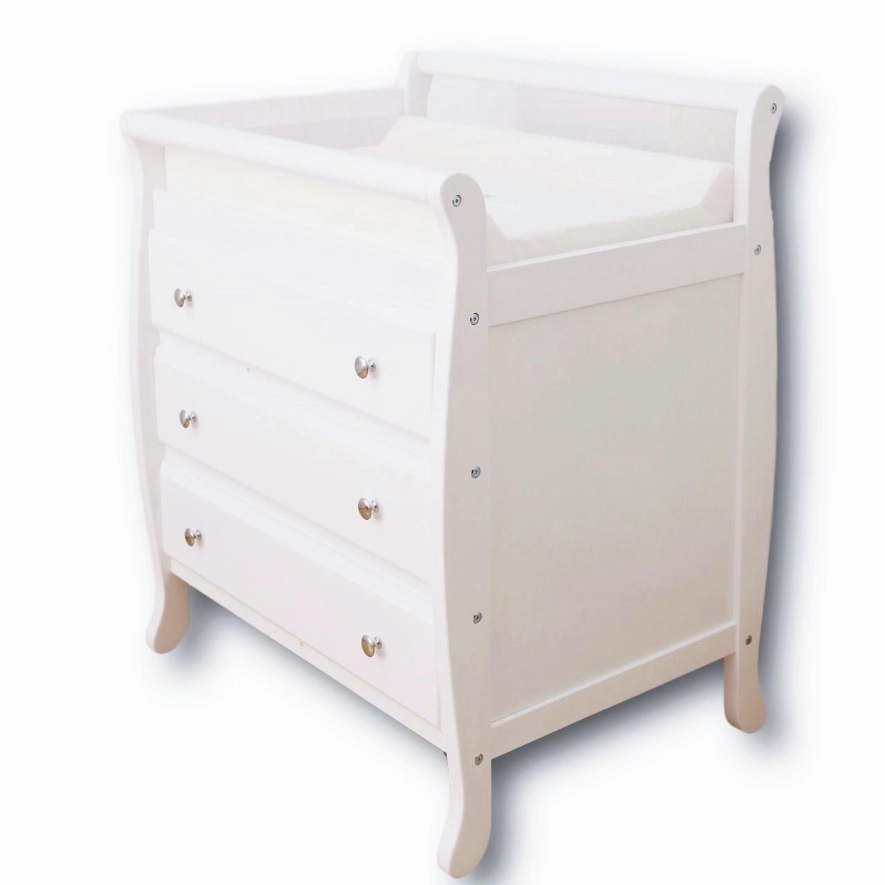 3 drawer white baby change table chest dresser cabinet changer nursery. Black Bedroom Furniture Sets. Home Design Ideas