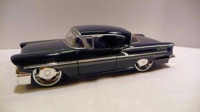 Jada Dub City 1958 Chevrolet Impala Oldskool 1 24 Black