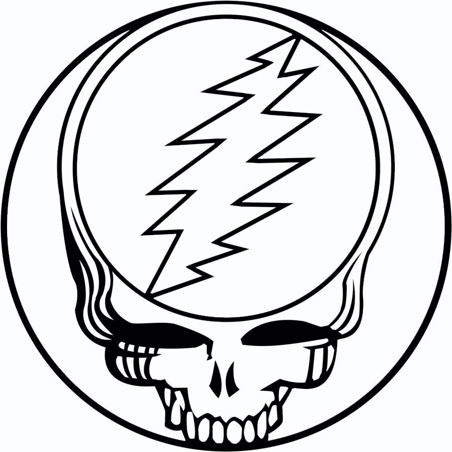 Grateful Dead Jerry Garcia Dead Heads Steal Your Face Logo
