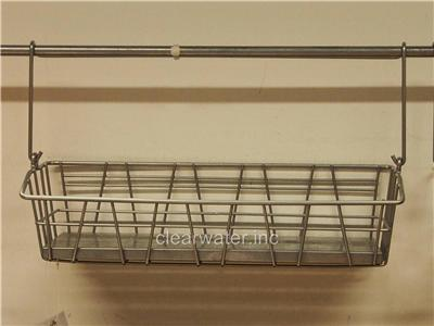 Ikea Bygel Kitchen Wire Basket For Spice Jars Utensils