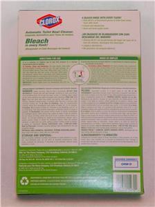 Clorox Toilet Bowl Cleaner Automatic Bleach 6x 3 5 Oz Tabs