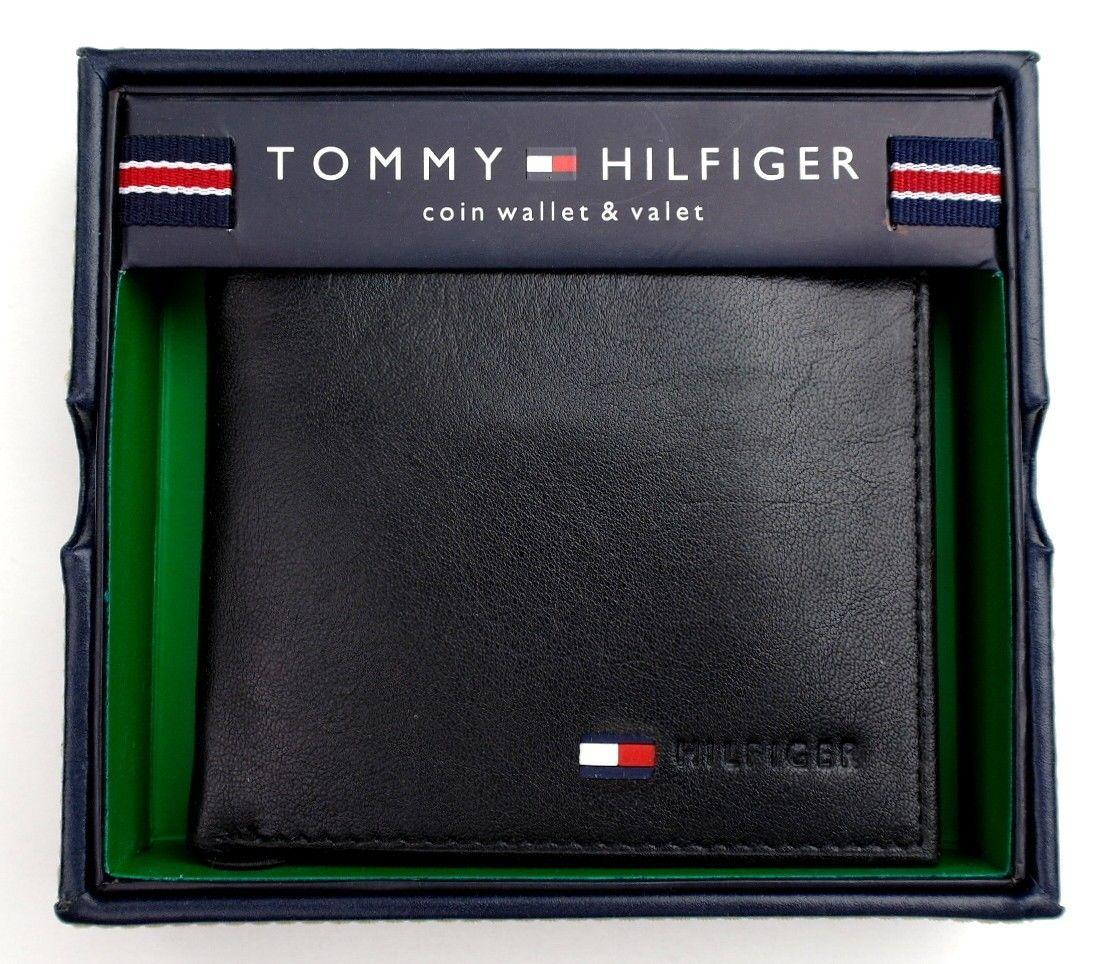 Credit Coin: NEW TOMMY HILFIGER MEN'S LEATHER CREDIT CARD COIN ID