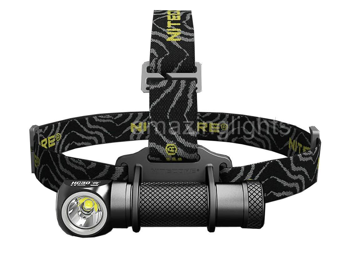Nitecore HC30 1000 Lumen LED Headlamp w// 2 x 18650 Batteries /& Charger Kit