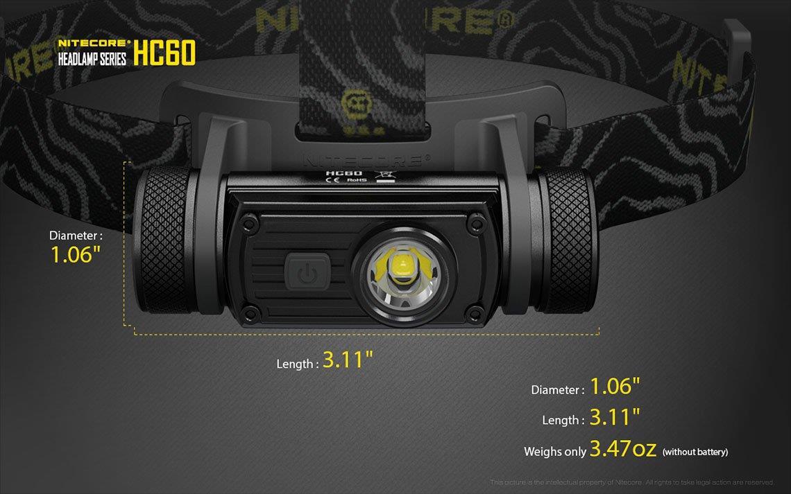 Nitecore NU20 rechargeable 360 Lm Léger DEL Projecteur-Vert