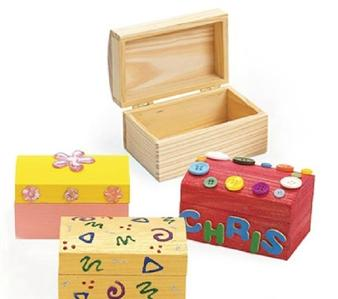 PACK OF 4 DIY Paint Your Own Wooden Jewelry Box,Wood ...