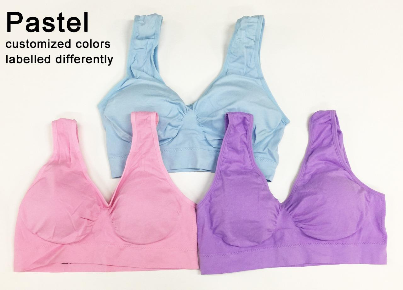 Genie Bra Set Of 3 Seamless Shapewear With Padding 6 Sizes Genuine Removable Pads Pcs Summer Available Color Sets