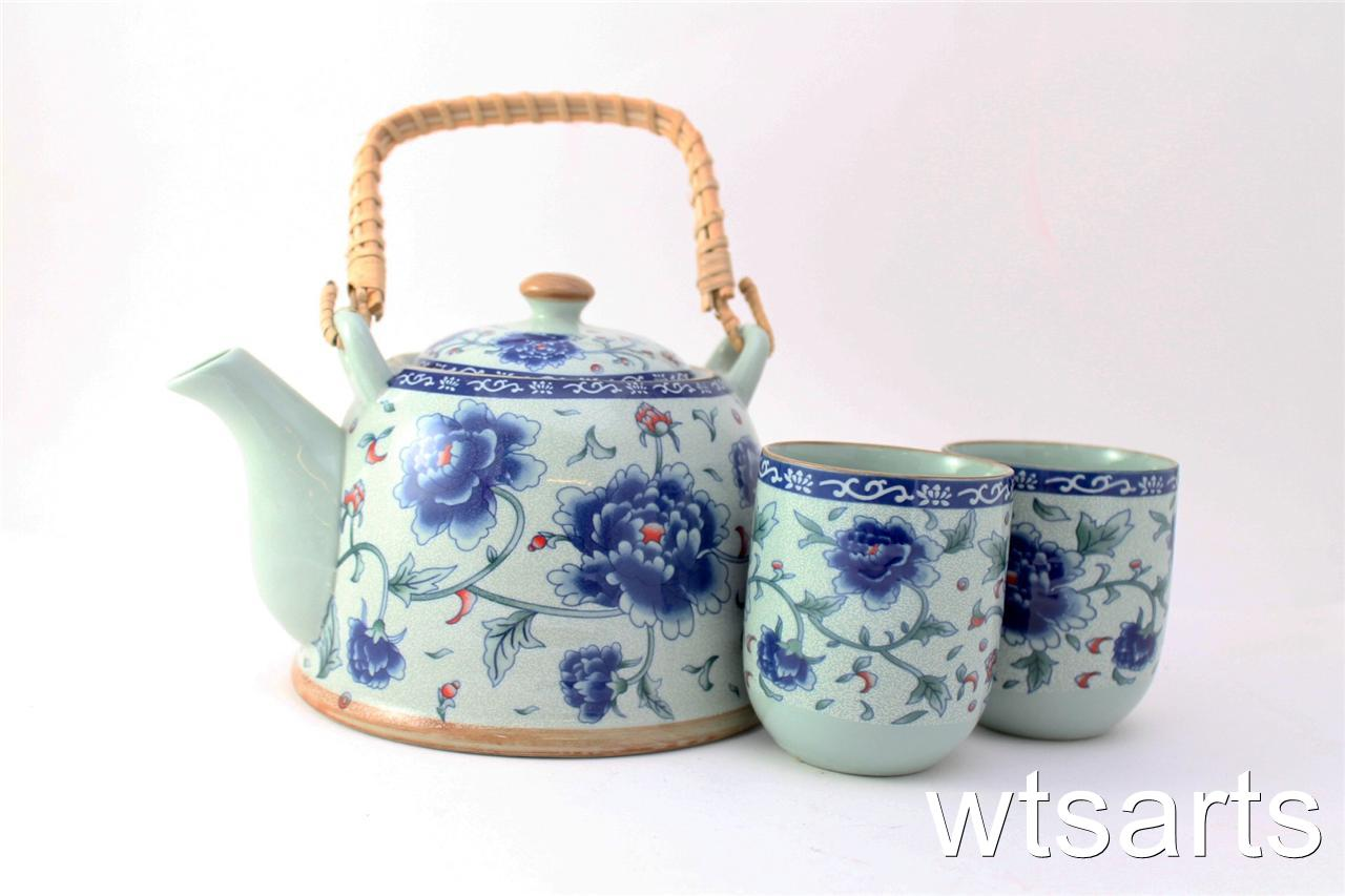 chinese tea pot and 2 tea cup set infuser mix styles teapot japanese ebay. Black Bedroom Furniture Sets. Home Design Ideas