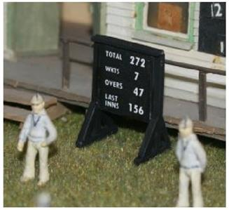 LANGLEY MODELS F35cp 1:76 OO SCALE Cricket Game Portable Scoring Board Painted Decoración y piezas