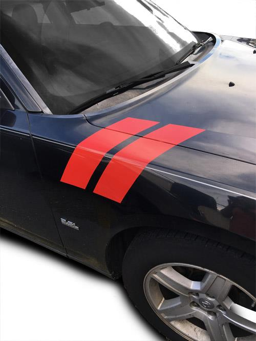 2006 2007 2008 2009 2010 Dodge Charger Fender Racing Hash Stripes Decal Ebay