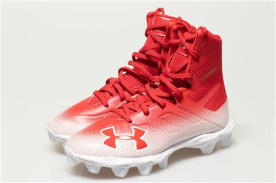 7ca3cb3f9088 NEW UNDER ARMOUR HIGHLIGHT RM FOOTBALL CLEATS SIZE 2.5Y 3000195-600 ...