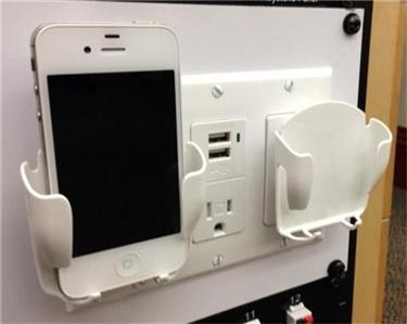 cell phone dual charging station usb iphone 5 4 android blackberry white dock 639302474341 ebay. Black Bedroom Furniture Sets. Home Design Ideas