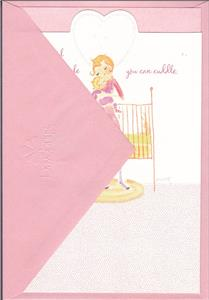 """by Gallant! /""""ONE MIRACLE AFTER ANOTHER/"""" Greeting Card New Baby"""