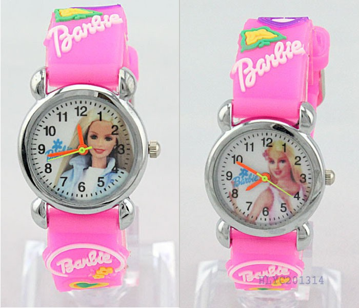 2PCS Mickey Barbie Girl Tom Jerry 3D Children Wrist Watch