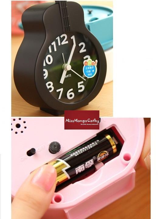 "Decorative Bedroom Alarm Clocks: ""Violin Time"" Cute Bedroom Desk Analog Alarm Clock"