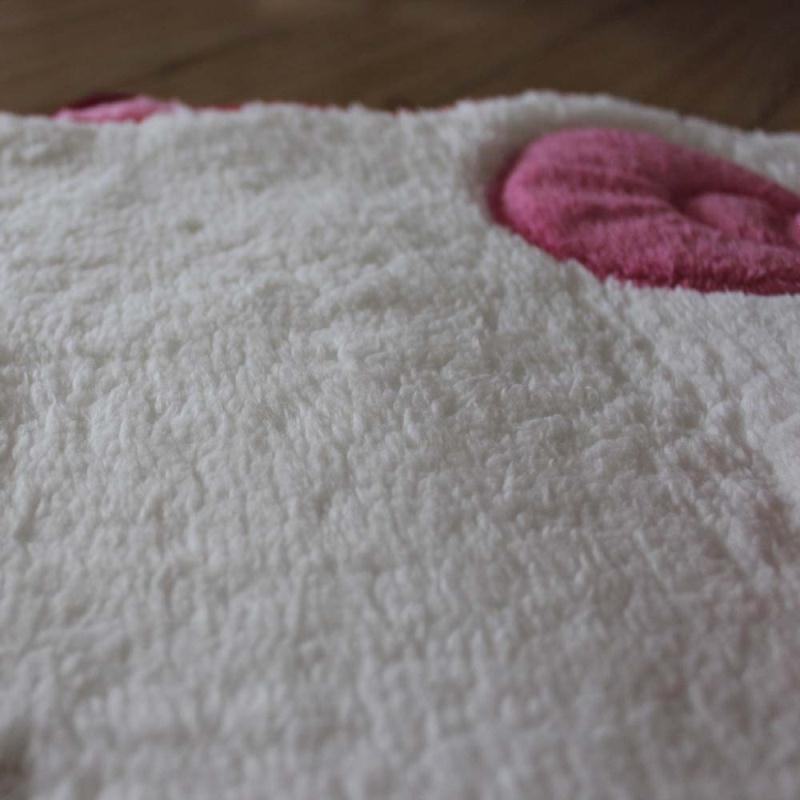 Cute Hello Kitty Pink Bow Floor Mat Rug Plush Door Mat