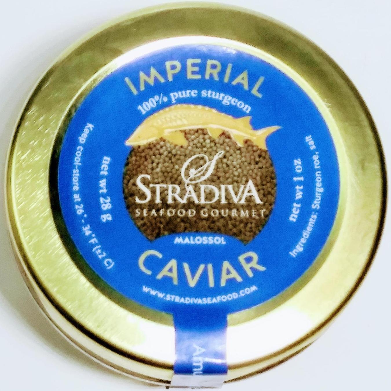Best  Russian Malossol AMUR IMPERIAL Sturgeon  Black Caviar 28gr / 1oz glass jar 2