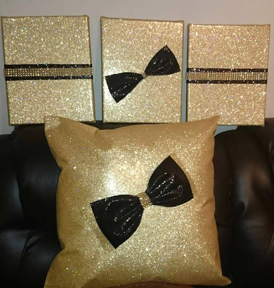 GLITTER Fabric BOWS Ideal For Curtain Tie-Backs, Cushions