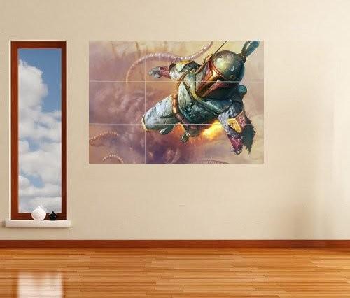 star wars boba fett riesig xl teil wandkunst poster vg107 ebay. Black Bedroom Furniture Sets. Home Design Ideas