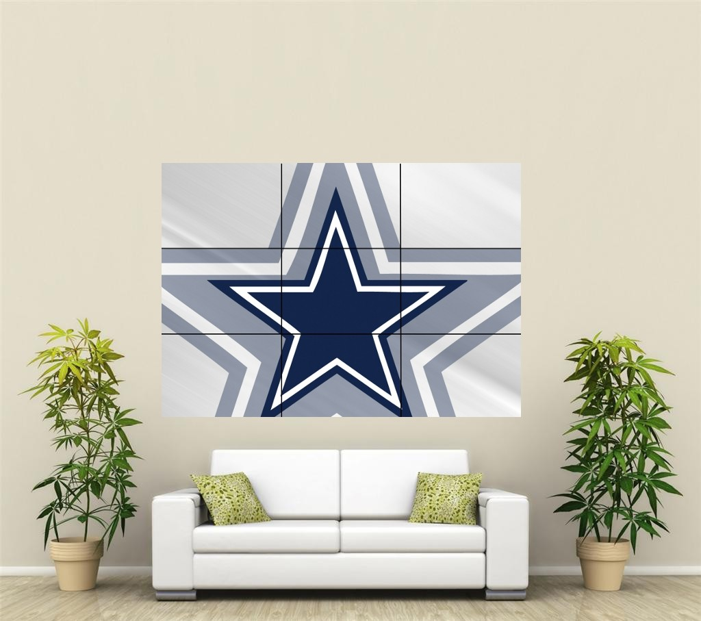 Dallas Cowboys Giant Xl Section Wall Art Poster Nfl111 Ebay