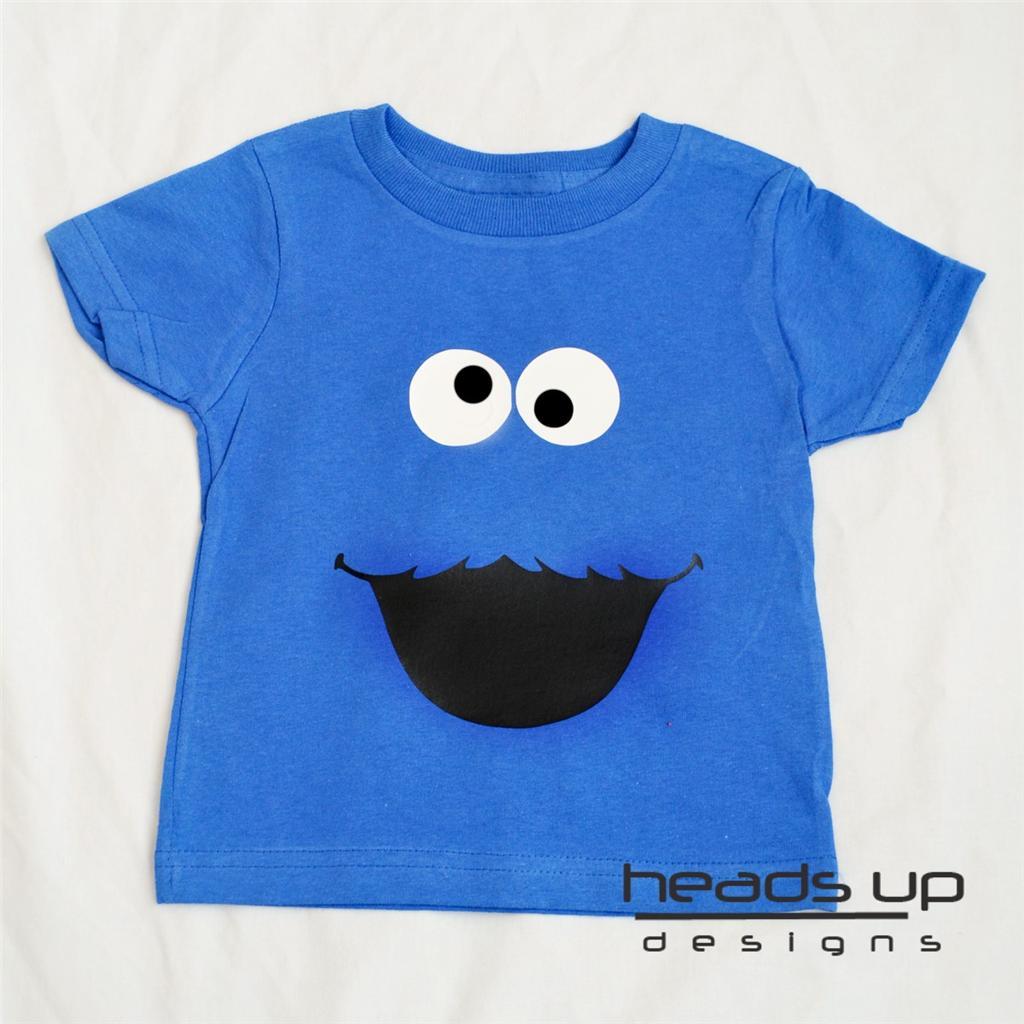 Cookie Monster Shirt Sesame Street Boy Girl Baby Onesie
