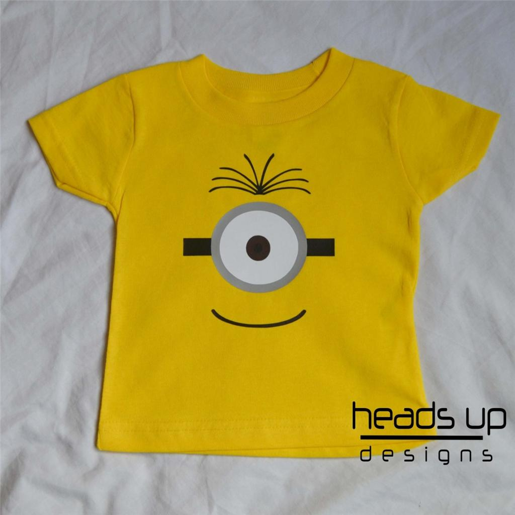 953238fe8 Minion Shirt 1 Eye Newborn Infant Baby Toddler Kid Boy Girl Adult ...