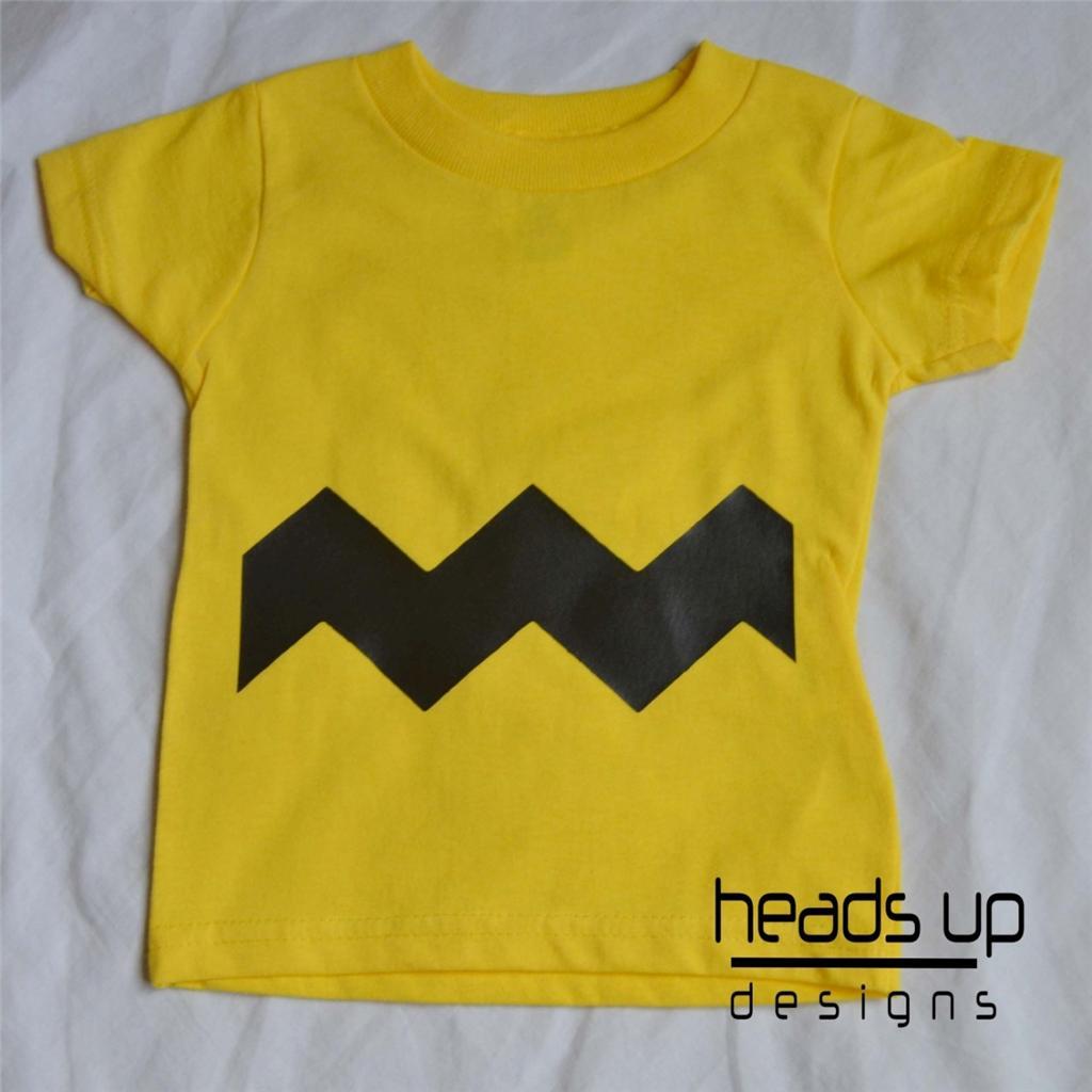 Charlie Brown Shirt Charlie Brown Costume Baby Onesie Boy Girl Kid Newborn Adult