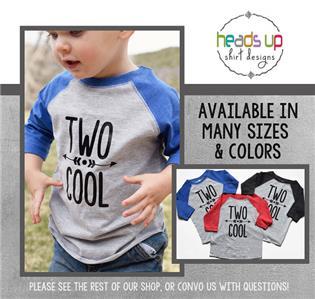 Details About Two Cool Raglan Shirt Toddler Boy