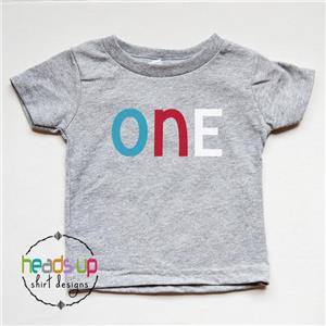 Details About 1st Birthday Shirt Boy Girl One Bday Tshirt First Tee Photo Trendy Cake Smash