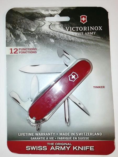 Original Victorinox Swiss Army Tinker Red Blister 12