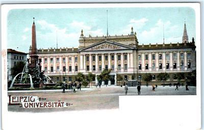 Leipzig Germany Fountain Leipzig Universitat University C1900s Litho Postcard Ebay