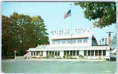 Details About Westport Connecticut Ct Roadside The Clam Box Seafood Restaurant Postcard