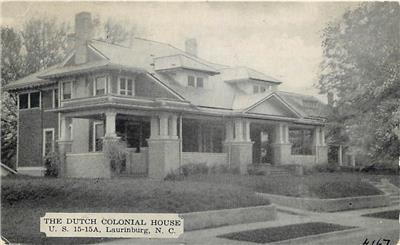 Laurinburg North Carolina Nc Dutch Colonial House 1943 Postcard Ebay