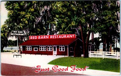 LAKE CITY, FL Florida RED BARN Restaurant 1952 Roadside Postcard | eBay
