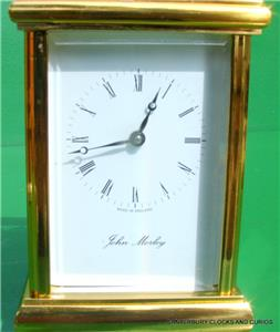 john morley vintage englisches 8 tag timepiece reiseuhr ebay. Black Bedroom Furniture Sets. Home Design Ideas