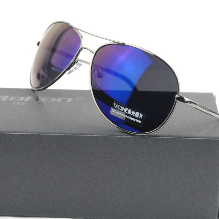 f6ad3d387f New Era Star design Cool Men Aviator Police Polarized sunglasses Rock Dark  Blue