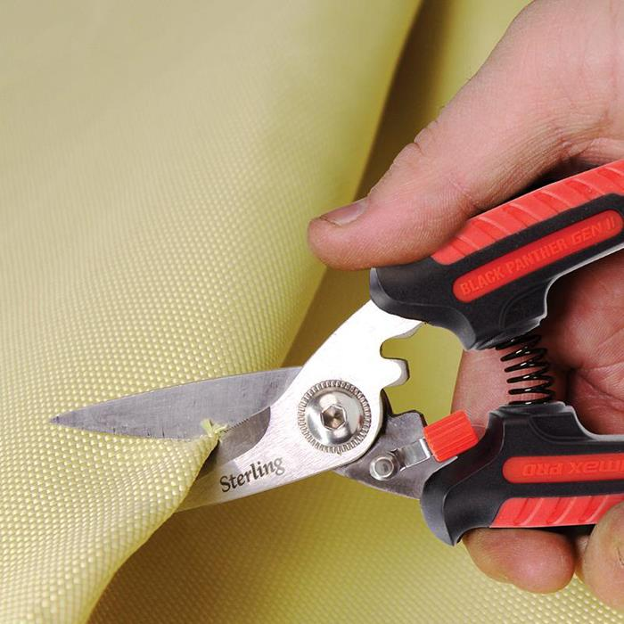 """Qty 5 Stirling 200mm 8/"""" Black Panther Industrial Grade Snips Stainless Steel"""