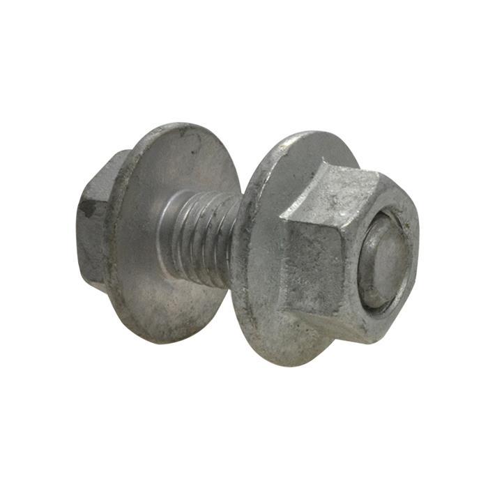 Qty 50 Flanged Purlin Bolt M12 12mm X 30mm Galvanised 8