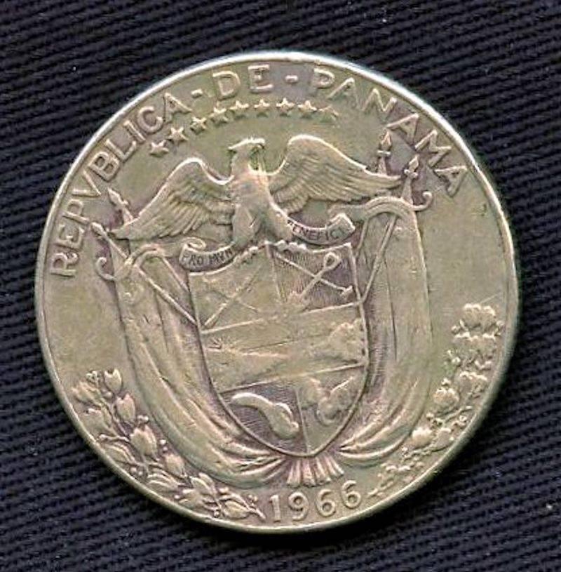X199 Republic Of Panama 1961 2014 Medio Balboa 1966 Coin