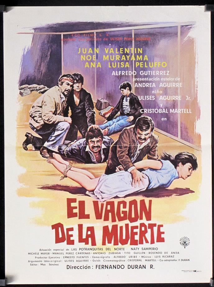 G301 El Vagon De La Muerte Original Mexican Movie Poster Juan